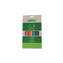סט צבעי עפרון משולשים קמפוס 12 יח' CAMPUS