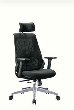 כסא מנהל רשת + משענת ראש עכביש שחור