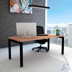 שולחן כתיבה עץ דגם ספיר רגל שחורה