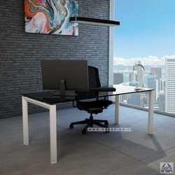 שולחן כתיבה זכוכית שחורה דגם ספיר