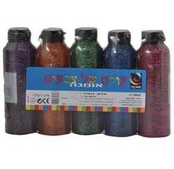 צבעי גואש נוצצים במארז 5*140 גרם