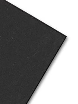 לוח מוקצף שחור 5 מ'מ 70/100