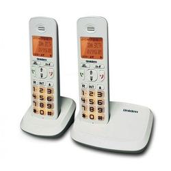 טלפון אלחוטי+שלוחה UNIDEN AT4103-2 צבע לבן