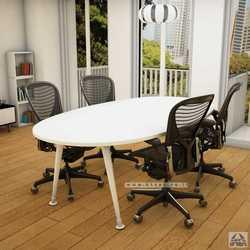 שולחן ישיבות יוקרתי דגם Keren רגל לבנה