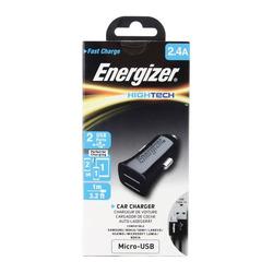 מטען רכב אנרגיזר 2.4A כולל כבל MICRO-USB