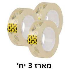 סלוטייפ  3 יח' שקוף קריסטלי 33-3/4 deli W30065