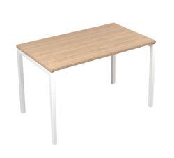 שולחן NOVA U 160/70 לבן פלטה (C) D2 Amber oak