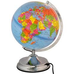 גלובוס דקורטיבי מפת העולם בעברית עם תאורה קוטר 25 ס'מ