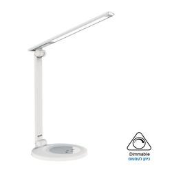 מנורת שולחן LED דקורטיבית - אופל לבן