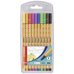 עט / טוש סטבילו 88 סט 10 צבעים