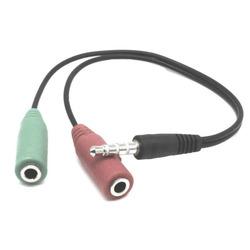 מפצל אוזניות ומקרופון 3.5mm