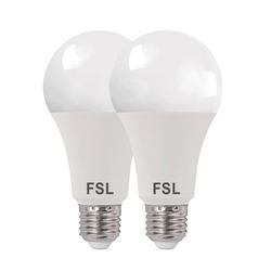 נורת לד A70 17W לבן אור יום E27 זוג במארז FSL