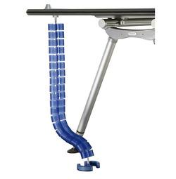 צינור איסוף כבלים אנכי כחול/חום
