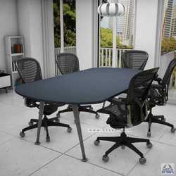שולחן ישיבות יוקרתי דגם Keren רגל כסופה