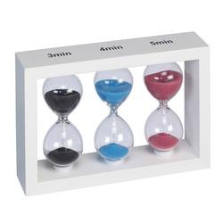 שעון חול *3 מסגרת עץ לבנה ZA-3561