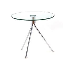 שולחן המתנה זכוכית עגול