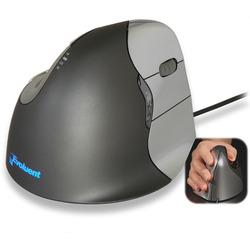 עכבר ארגונומי אנכי ימיני חוטי - דגם VerticalMouse 4 - תוצרת EVOLUENT