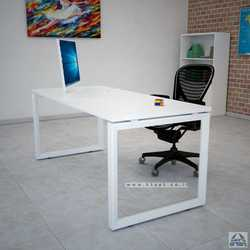 שולחן כתיבה דגם Diamond רגל לבנה