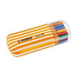 טוש סטבילו 88 סט 20 צבעים בקלמר קשיח