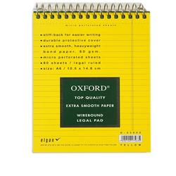 בלוק OXFORD ספירלה A6 צהוב שורה