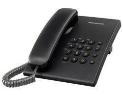 טלפון שולחני PANASONIC שחור KX-TS500