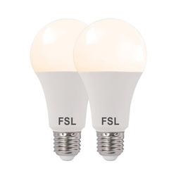 נורת לד A70 17W לבן אור חם E27 זוג במארז FSL