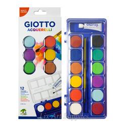 סט צבעי מים  אטומים 12 גוונים GIOTTO
