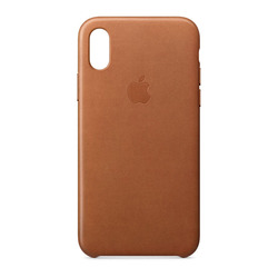 מגן כיסוי עור iPhone X חום