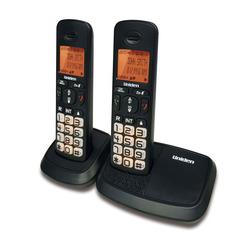 טלפון אלחוטי+שלוחה UNIDEN AT4103-2 צבע שחור