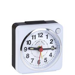 שעון מעורר מרובע קטן לבן/שחור 4430-9