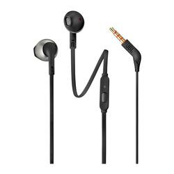 אוזניות חוטיות עם מיקרופון JBL T205 שחור