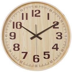 שעון קיר במבוק טבעי עץ 40 ס'מ ZA-2848-7