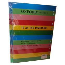 חוצצים פלסטיק עבים 1-12 A4 OXFORD