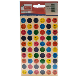 מדבקות חייכנים מעורב צבעים קטן STC125
