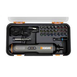 מברג חשמלי נטען 4V + סט ביטים WORX WX240