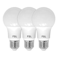 נורת לד A60 15W לבן אור חם E27 שלישיה במארז FSL