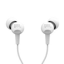 אוזניות חוטיות JBL C100SI לבן