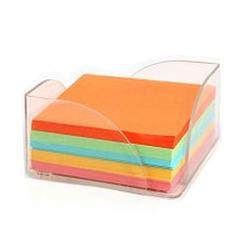 קובית נייר צבעוני + מתקן פלסטי נמוך