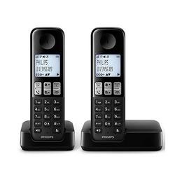 טלפון אלחוטי Philips D2302B עם שלוחה נוספת