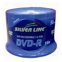 דיסקים לצריבה DVD 4.7Gb *16 Silver Line