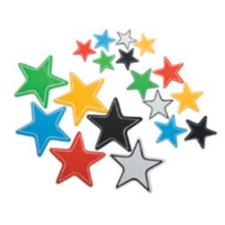 כוכבים מודפסים דביק 3 גדלים 40 יח'