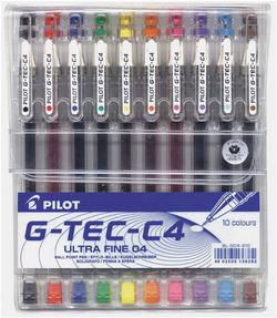 סט עט פילוט 0.4 10 צבעים PILOT  G-TEC-C4