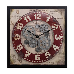 שעון קיר אגלגלי שיניים 33/33 ס'מ ZA-4495