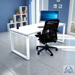 שולחן כתיבה עץ דגם וינדוו 140/70 ס'מ צבע לבן