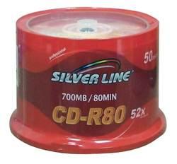 דיסקים לצריבה CD-R 700Mb/80*52 Silver Line