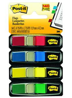 דגלוני סימון 12 מ'מ מיני 4 צבעים POSTIT 683-4