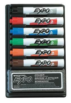 סט אורגנייזר אקספו 6 צבעים ומחק