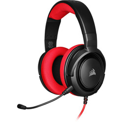 אוזניות גיימינג -CORSAIR HS35 STEREO אדום