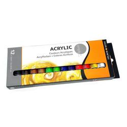 סט צבעי אקריליק שפורפרת 12 גוונים 12 מ'ל