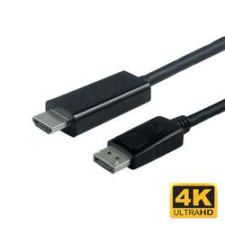 כבל 1.8 מ' DP זכר ל HDMI זכר 4K30